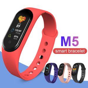 M5 intelligente Bracciale Fitness Tracker Guarda Sport braccialetto della pressione arteriosa frequenza cardiaca Smartband con la scatola di vendita al dettaglio