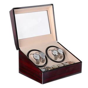 Automatique montre mécanique Winders boîte de rangement cas titulaire 4 + 6 Collection Montre affichage bijoux Winder Box noir PU cuir