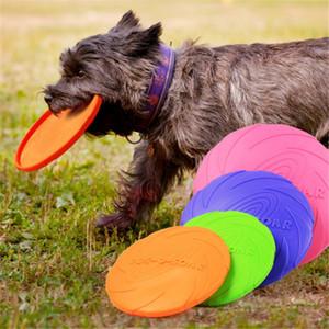 1 adet komik silikon uçan Daire köpek kedi Oyuncak oyunu uçan diskler dayanıklı chew yavru Interaktif köpek malzemeleri uçan diskler dayanıklı