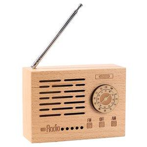 Wooden Radio Shaped Music Box Creative Retro Art Crafts Birthday Gift Retro Doll Home Decoration Accessories