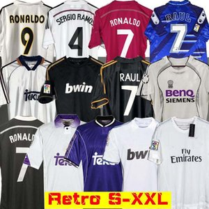Real Madrid retro 10 11 12 Fútbol Fútbol Jersey GUTI Ramos McManaman 13 14 15 16 RONALDO ZIDANE Beckham 06 07 99 00 REDONDO RAUL 98 97 96