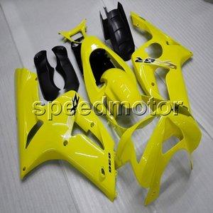 Botls + Подарки Формы для инъекций желтый капот мотоцикла для Kawasaki ZX6R 2003-2004 ABS мотор Обтекатель пластиковый