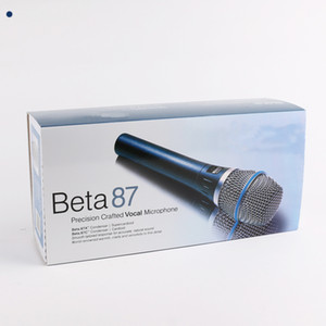 Beta 87 Professional Microfono BETA87 Wired Handheld Vocal Dynamic Karaoke Microfono per beta 87c beta87a 87a microfoni MIC gratuiti DHL