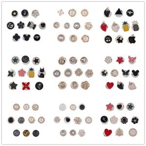 10pcs / set Set Meyve İnci Elmas Geometri Broş Renkli Yaratıcı Kişilik Denim Gömlek Yaka Rozeti Emaye Pim Dekorasyon Kombinasyon