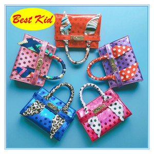 BestKid DHL Free Shipping! Childrens Dot design PU Leather handbags Girls Small size totes for party Toddlers Mini Purse Kids New bags BK078
