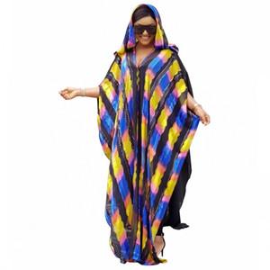 Longitud del envío gratis 150 cm Vestidos africanos para mujeres 2019 Ropa africana Vestido largo musulmán Vestido africano de moda de alta calidad