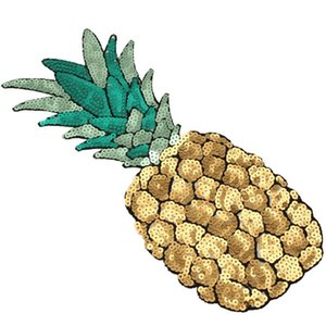 50 Piece Cheap Large Sequins Pineapple Patch Fashion Embroidered Applique Clothing Decoration Sew On Patch clothes applique