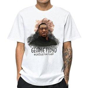 ДЖОРДЖ FLOYD BLM печати Men T Shirt Tee BASIC Белый хлопок Повседневная O-образным вырезом с коротким рукавом Streetwear Dropshipping S-XXXXL
