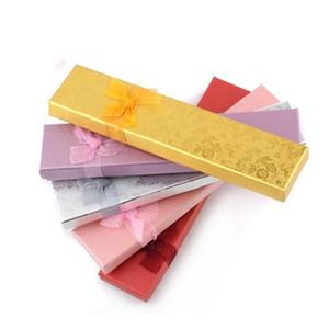 20. 5x4. 5x2 cm nacré papier Bowtie Decpr boîte à bijoux emballage cadeaux Pendentif Collier Boîte En Gros