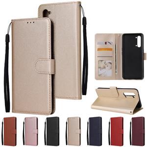 HS Flip Wallet PU Leather Case Photo Frame Slots For OPPO F7 F11 Pro R15 Realme XT X2 K5 3 5 6 X50 5G Reno 2 Z 2Z 3 A31 A8 A9 A5 2020 A52