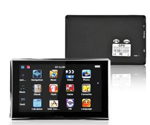Portable 5 pouces GPS Navigator Case Truck Navigation Car MTK FM Sat Nav Navitel Russie Carte Europe Amérique Asie Afrique Carte Israël