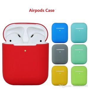 Designer d'Apple AirPod étui souple en silicone ultra protecteur mince Airpods2 AirPod couvrir les cas Earpods Vêtements de soutien sans fil de charge