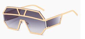 8 cores QUENTE Nova One Piece Lente Óculos De Sol Das Mulheres de Grandes Dimensões Quadrados Óculos de Sol 2019 Marca Designer Homens Óculos De Sol Tons UV400 MO = 5 pcs