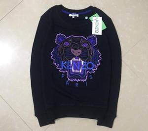 2020 высокое качество вышивка тигровая голова мужская и женская толстовка хип-хоп рубашка с капюшоном работает пуловер спортивная мода уличная одежда балахон