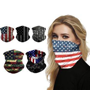 Amerikanische Flagge Hood Street Magic Hood Wind Filter Schutzmaske Fahrrad Außen Maske Breathstaubschutz T3I5840 Maske