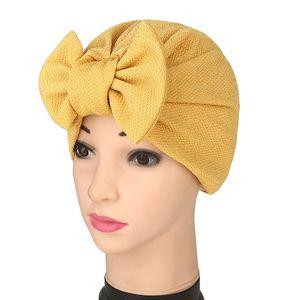 Muslim Mode Damen Hijabs Bowknot Frauen-Hüte Muslim Stretch Turban-Hut-Kappe Haarausfall Kopfbedeckung Hijib Cap