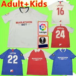 Sevilla Camiseta de fútbol NOLITO HERNANDEZ 2019 2020 MUNIR J.NAVAS Maillot de foot ARANA EVER BANEGA Sevilha soccer jersey OCAMPOS VAZQUEZ Sevilha camisas Séville football shirt