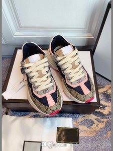الأكثر مبيعا جمع الرجال مصمم Rhyton حذاء الرمزية المطبوعة حذاء الرجعية المدرب الأزياء أبي الأحذية أحذية رياضية حجم 35-44
