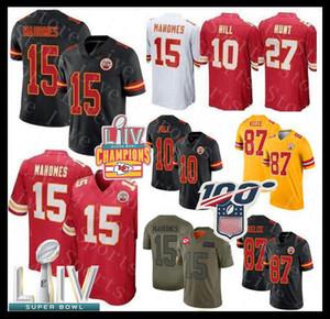 Chief Super Bowl LIV Champions KC 15 Patrick Mahomes II Jersey Kansas 87 Travis Kelce 10 Tyreek Hill Watkins Jagd Eric Berry Hardman Watkins