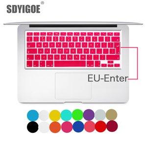 Clavier portable Cover Pour Macbook Air 13 Pro 15 pouces A1466 A1502 A1278 A1398 Eu Silicon Keyboard Cover Couleur Film de protection T190619