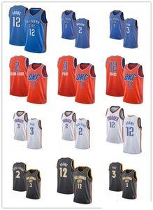 Erkekler Kadınlar Gençlik OklahomaKentnbagök gürültüsü2 Shai Gilgeous-Alexander 3 Chris Paul 12 Steven Adams özel Basketbol Formalar