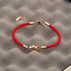 Оптово любовь Шарм браслеты Красная Нить Красная веревка ювелирные три кольца три цвета красный черный каната браслет любовь Браслеты Женщина Мужчина Jewelry