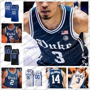 Özelleştirilmiş 2020 Duke Blue Devils # 21 Matta Hurt 15 Alex O'Connell 13 Joey Baker 0 Moore Jr. Donanma Erkekler Gençlik Kid Jersey 4XL