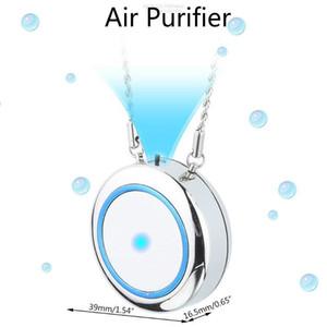 Collar Purificador de aire Mini USB Portátil ACENDIENTE DE AIRE LONIZADOR NEGATIVO LONIZADOR DE AION LEVADOR DE AIRE PARA NIÑOS ANTIGUSTIOS ANTIGUOS ADULTIVOS