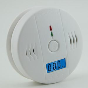 تحذير إنذار للكشف عن LCD CO الاستشعار العمل المدمج في وحده 85dB وصفارات الإنذار الصوت المستقلة أول أكسيد الكربون السام تحذير إنذار