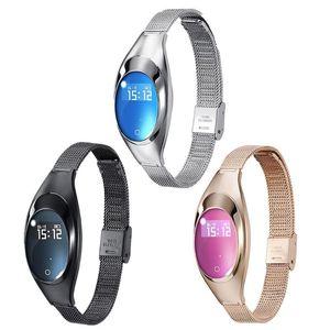 Z18 intelligente Bracciale Blood Blood Pressure ossigeno cardiofrequenzimetro intelligente orologio da polso impermeabile Bluetooth intelligente orologio da polso per iPhone iOS Android