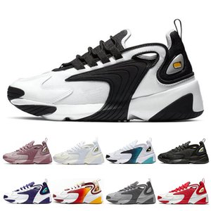 nike Zoom M2K Tekno 2000 세일 화이트 - 블랙 짙은 회색 남성용 운동화 신발 에어 스포츠 신발