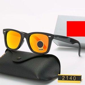 Yüksek kaliteli Polarize lens pilotu Erkekler ve Kadınlar Marka tasarımcı Vintage Spor Güneş durumda ve kutu 2140 ile gözlük Moda Güneş gözlükleri için