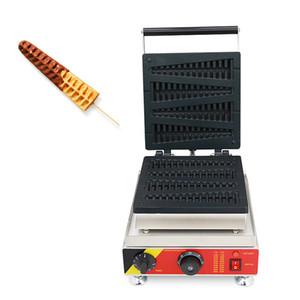 Коммерческое использование антипригарным рождественская елка Shaped Lolly вафельница 110 в 220 В вафли на палочки машина железа пекарь Пан