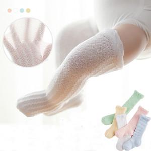 Cotone ginocchio colpisce con dei ragazzi delle neonate lunghi calzini infantili di alta ginocchio anti-zanzara calzino Mesh calzini del merletto del bambino estate neonato Bambino M1364