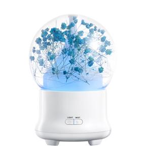 100ml criativa Flor eterna Aromaterapia Máquina umidificador de ar ultra-Difusor criativa direto carregamento Fonte Decoração