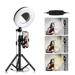 Ring Light 22cm 9inch Photography LED Selfie Lighting & Mirror For Makeup Video Live Stream With height 150cm Tripod & USB Plug