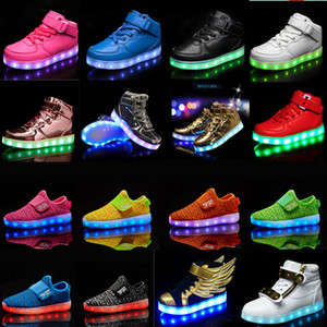 Calzado casual para niños con USB recargable Led Light Up Shoes Luminous Sneakers para Boys Girls Sneaker