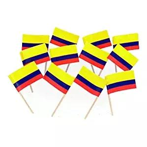 Mini 300Pcs Colombia Toothpick Flag Paper Food Picks Cake Toothpicks Paper flagsParty Cupcake Decoration Fruit Cocktail Sticks