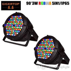 Gigertop 2 birimlerinin 90x3w Yeni Tasarım Büyük Su geçirmez Led Par Işık RGBWA 5 Renk Smooth Led Duvar Boyama İl Renk Bina Renkli Aydınlatma