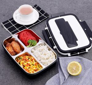 Portátil Lunch Bento Student Box Food 4-compartimento 3 grades Lancheira térmica para almoço Aço inoxidável Food 304 Box For Kids
