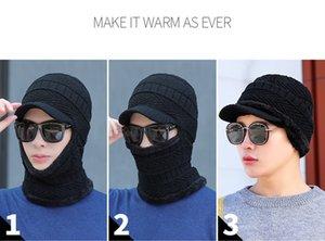 Les meilleurs hommes de cache-oreilles de vente d'hiver chapeau, plus épaississement de velours équitation écharpe chapeau de laine chapeau un chapeau de cou de protection du cou