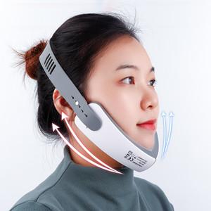 Чин V-Line Up Lift Пояс машины Красный Синий светодиодный Photon Therapy Подъемное устройство для лица Face Slimming Massager вибрации V-Уход за кожей лица