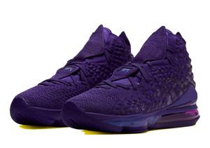 2019 di alta qualità bambini LeBron 17 Bron 2k pattini di pallacanestro di vendita con la scatola James 17 uomini donne scarpe da tennis deposito trasporto libero size36-46