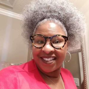Afro Kinky silbergraues Menschenhaar Pferdeschwanz, kurzes hochgraues Kinky Hair Puff Updo Kordelzug Pferdeschwanz Menschenhaar