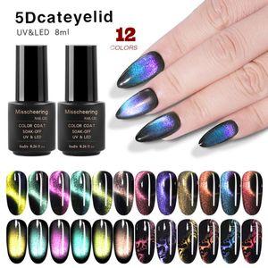 Nail Nuovo 8ml 5D Cat Eye Gel polacco Chameleon Magnetic Nail UV LED del gel di arte lacca TSLM2