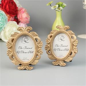 Estilo clássico presente Ellipse barroco pequeno Photo Frame Wedding Ornamento Resina Decoração Retro Popular 4 2yk H1