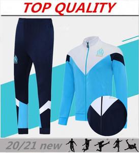 uomini 2020 l'Olympique de Marseille tuta giacca Calcio Maglia piede giacca 20/21 PAYET THAUVIN OM Football fare jogging tuta CHANDAL