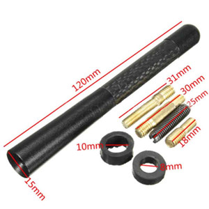 3.5cm New Real Carbon Fiber Short Car Radio Antenna Universal