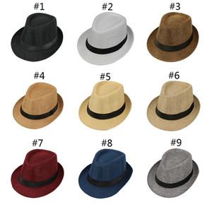Männer panama Hut Strohkappe Sommersonne Hut Designer Hüte Herren Mann Stingy Brim Kappen Erwachsene Mode Accessoires Geschenk
