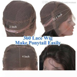ANATOMIC 9A Body Wave 360 Lace Frontal Wig with Baby Hair Pre Plucked 140% Density Straight Full Lace Human Hair Wigs For Women